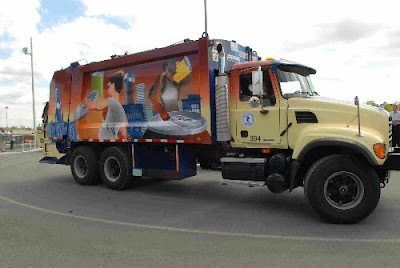 City of Metal Garbage Art Truck