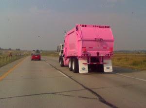 Pink Garbage Art Truck
