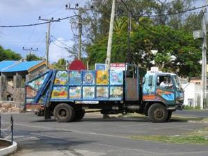 Patchwork Garbage Art Truck