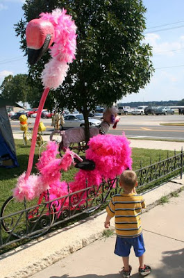 Scary Flamingo Art Bike