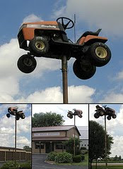lawn mower on pole