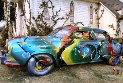 Fozzie Bear's Studebaker Psychedelic Art Car