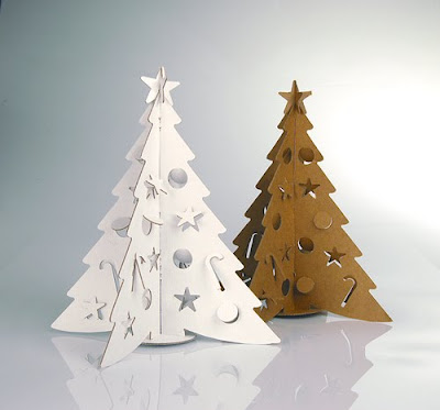 Cardboard Christmas Trees come in Regular and White