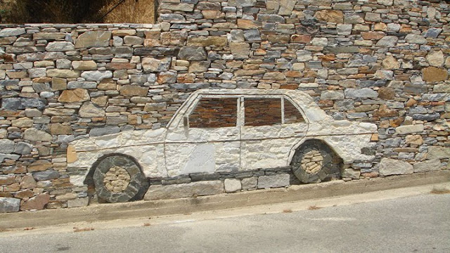 Rocking Mercedes Art Car from Ikaria Greece