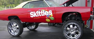 Skittles Donk Art Car