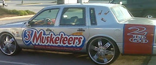 Three Musketeers Donk Art Car