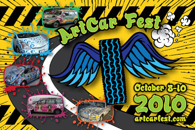 Art Car Fest 2010 Flyer Design Front by Costas Schuler