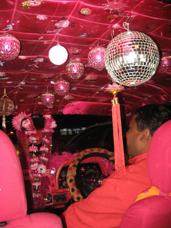 Basanti the Bollywood Amby - Bollywood Art Car Taxi Inside