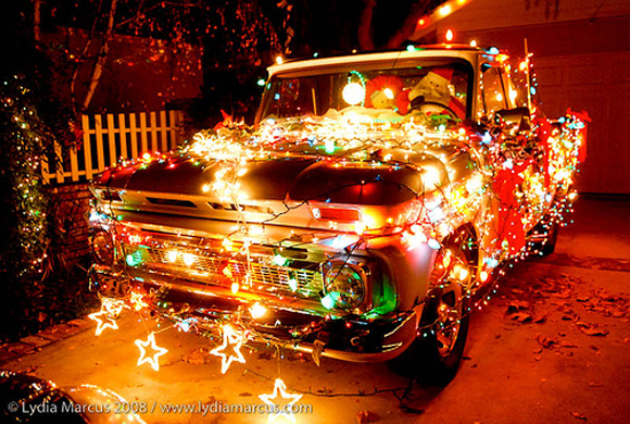 Chevy Christmas Car with Lights - Art Car