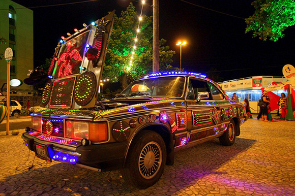 Volvo Christmas Car with Lights - Art Car