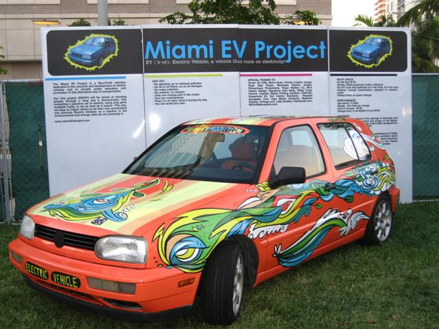 Miami EV Project - VW Golf Art Car by LEBO