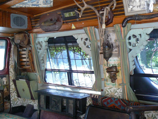 Vanadu Ford Art Car Inside - Goth Apocalypse Hunter Camper