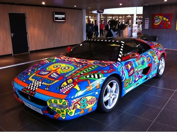 Hot Painted Ferrari Art Car by Ton Pret