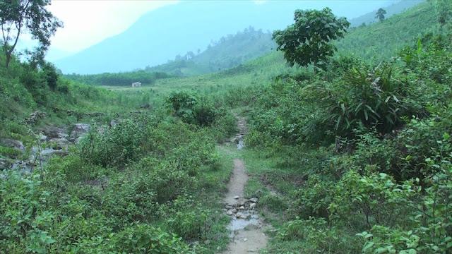 đường mòn dọc theo suối Chì
