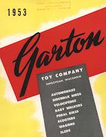 Cover from Garton Toy Company Catalog, 1953