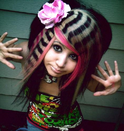 colorful emo hairstyles. Colorful Emo Hairstyles