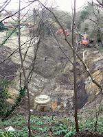 Devonshire Tunnel portal excavation