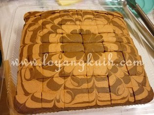 Kek Marble Coklat