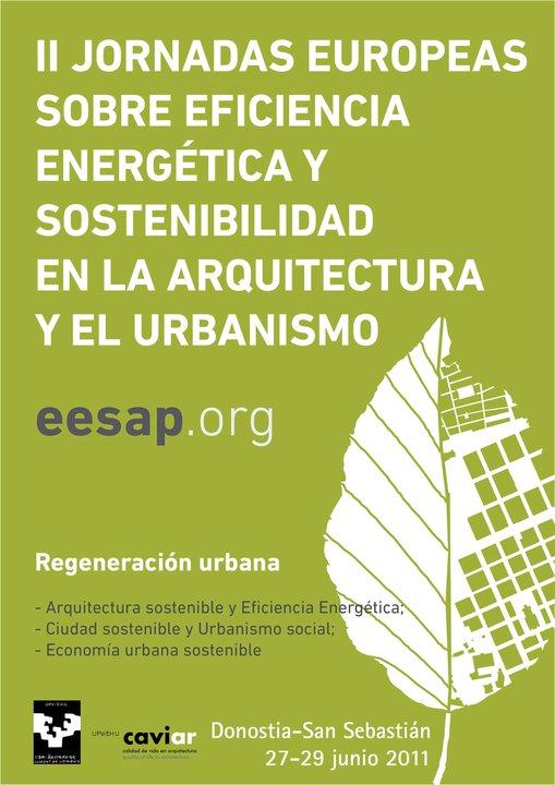 Ne re as jornadas europeas sobre eficiencia energ tica y for Escuela arquitectura donostia