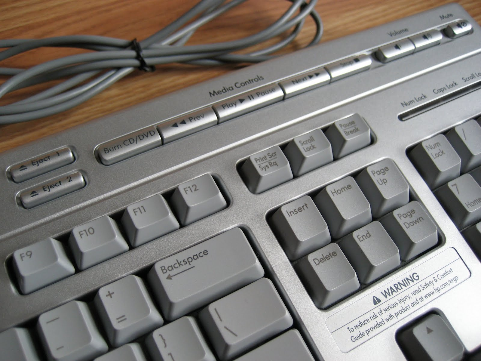 noboxtospeakof ( no box to speak of ): HP Multimedia Keyboard with Media Play 5187-7583