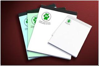Brinde Grátis Bloquinho de papel reciclado