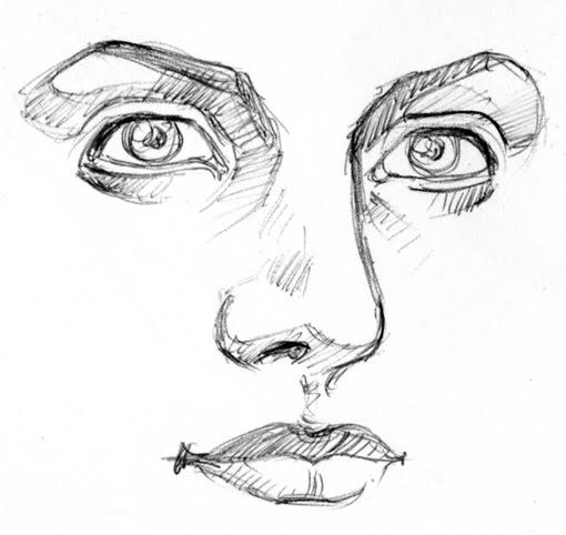 Dibujo de una cara - Imagui