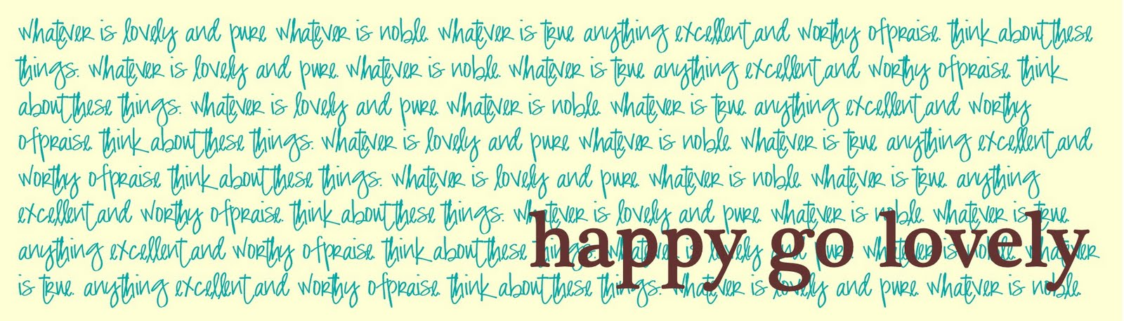 Happy Go Lovely