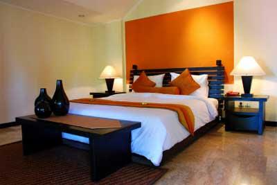 Modern Bed With Orange Feet