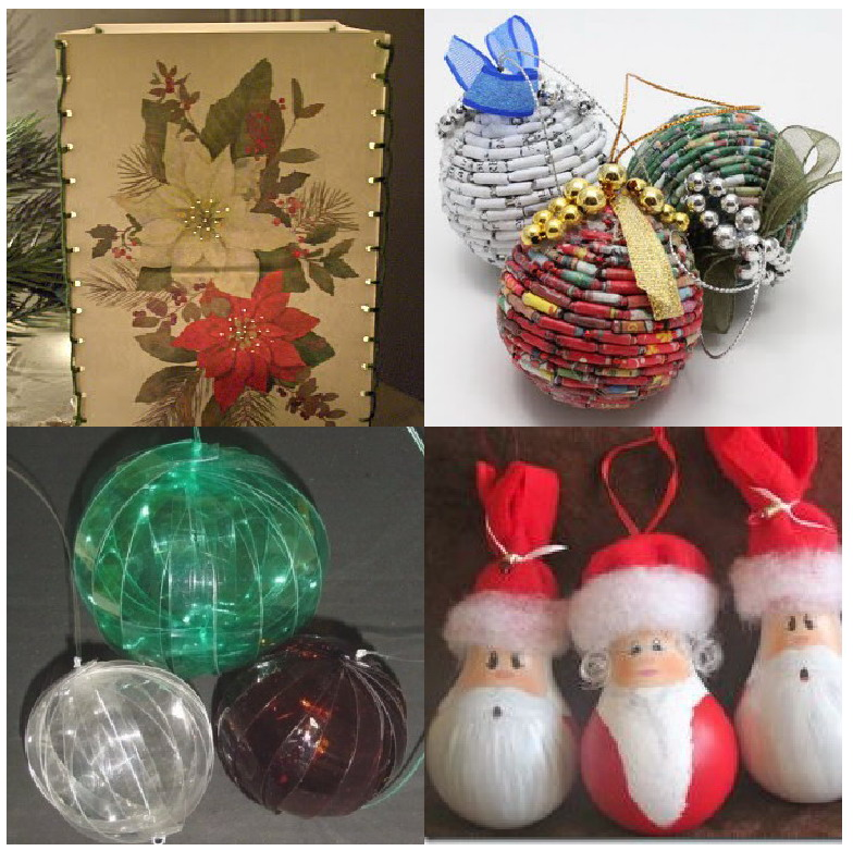 Ideas de Navidad reciclando