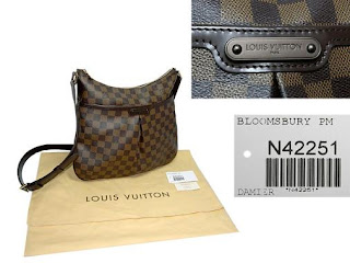 Pre-Loved LOUIS VUITTON DAMIER BLOOMSBURY