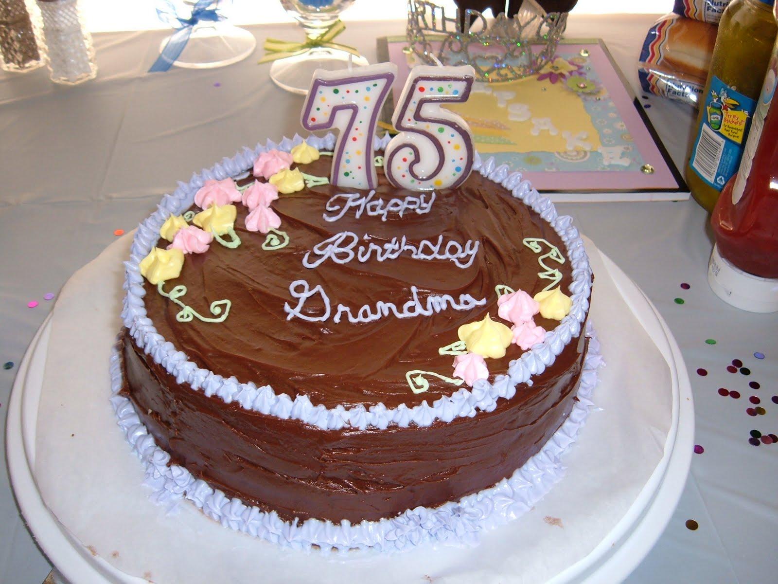Grandmas 75th Birthday Cake