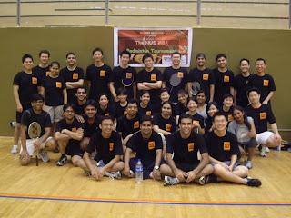 NUS MBA badminton 2009