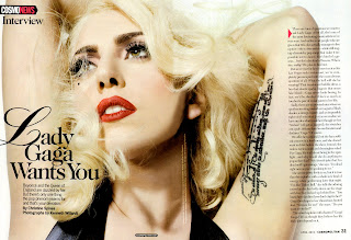Lady Gaga in Cosmo