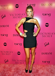 Marisa Miller in a sexy black dress
