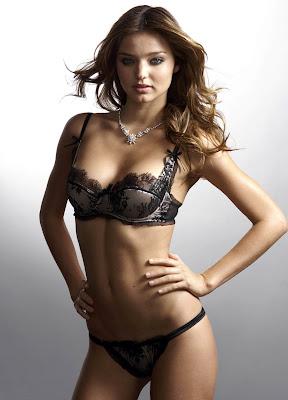 The lovely Miranda Kerr in lingerie