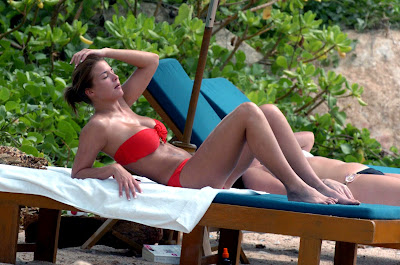Gemma Atkinson in a red bikini