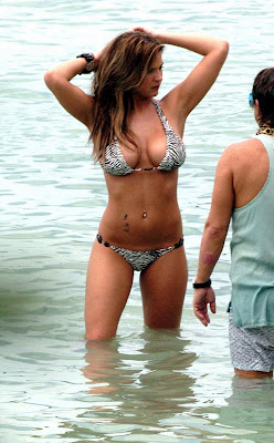 Gemma Atkinson gets wet in a bikini
