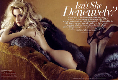 Kate Winslet looking surprisingly good in Vanity Fair