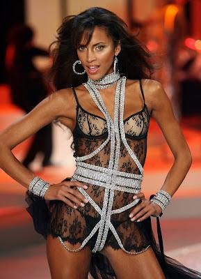 Model Noemie Lenoir in lingerie