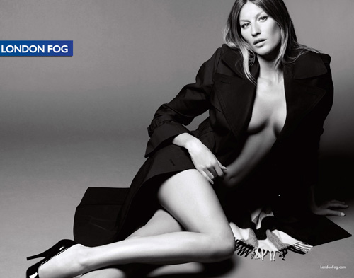 Gisele Bundchen for London Fog