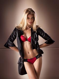 Hot Blonde in Lingerie - Catrin Claeson