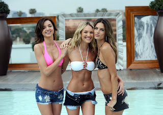 Alessandra Ambrosio with Candice Swanepoel and Miranda Kerr in  bikinis