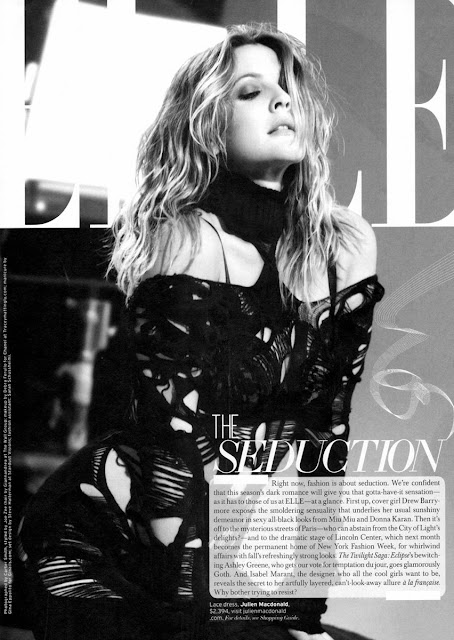 Drew Barrymore in Elle