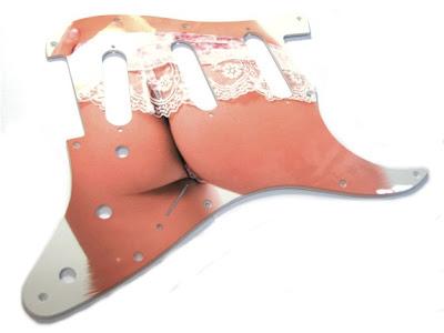 lingerie guitar decal