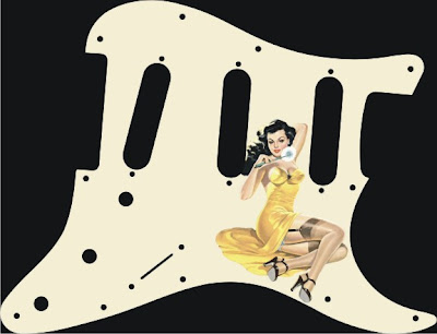 pin-up decals for guitar pickguards
