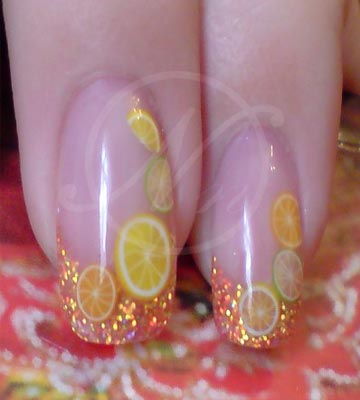 fruity nailart