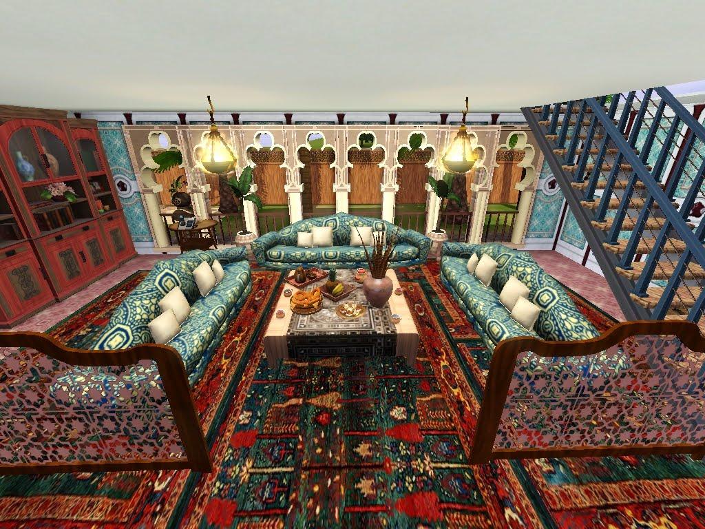 Glitzyangel 39 s moods crescent arabic house for Arabian inspired living room