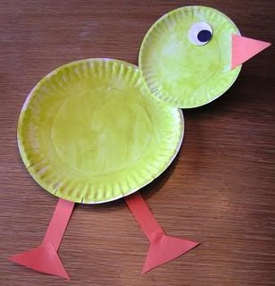 & Easter Chick Paper Plate Craft | Preschool Crafts for Kids
