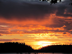 Solnedgång på ön
