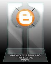 ¬ Premio Al Esfuerzo Personal 2009...